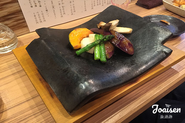 野菜の瓦焼き