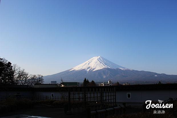 從湖南莊所看見的富士山